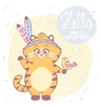 Cute kitten color vector image