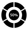 Fifty percent download internet icon simple style vector image