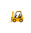 icon forklift truck construction machinery vector image