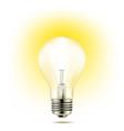 light bulb yellow vector image