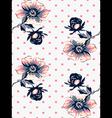 Vintage wallpaper seamless rose flower pattern vector image