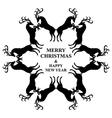 snowflakes deers vector image vector image