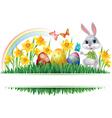 Easter horizontal frame vector image vector image