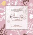 pink floral abstract invitation card vector image vector image