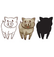 Sketches of a pig vector image