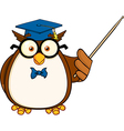 Owl teacher cartoon vector image