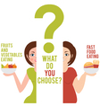 two women who have chosen a different style of vector image vector image
