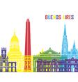 Buenos Aires skyline pop vector image vector image