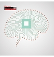 Brain Cpu Circuit board vector image