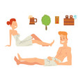 bath people body washing face and bath taking vector image