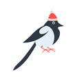 closeup of bird in red hat vector image