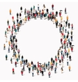 group people shape circle vector image