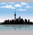 shanghai city skyline chinese urban landscape vector image
