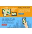 Two banners - mobile navigation vector image