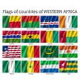 western africa flag set vector image