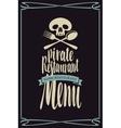 menus for pirate restaurants vector image vector image