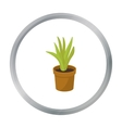 Office plant in th flowerpot icon in cartoon style vector image