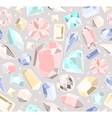 Seamless pastel diamonds pattern vector image vector image