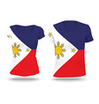 Flag shirt design of Philippines vector image