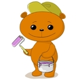 teddy bear house painter vector image vector image