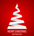 Christmas tree made of folded paper origami 12 vector image vector image