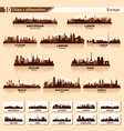 City skyline set Europe silhouettes vector image