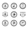 Elections labels set vector image