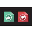 flat icons like unlike signs vector image