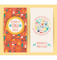 Flyers for yoga class vector image
