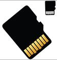 Micro SD Card vector image