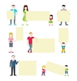 Set of People with Blank Banners vector image