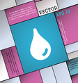 Water drop icon sign Modern flat style for your vector image