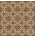 Brown Ornamental Seamless Line Pattern vector image