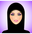 arab woman purple smile vector image vector image