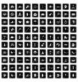 100 joy icons set grunge style vector image