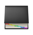 black notebook with colorful markers isolated on vector image