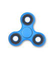 Realistic fidget spinner icon vector image