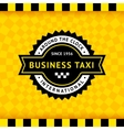 Taxi symbol with checkered background - 10 vector image