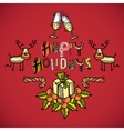 Sketch christmas card vector image vector image