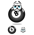 Smiling cartooned billiard ball vector image