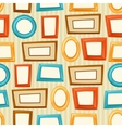 Seamless pattern background with color various vector image