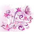 flowers and butterfly vector image vector image