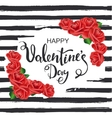 Happy Valentines Day Striped background with vector image
