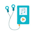 mp3 with headphones to listen and play music vector image