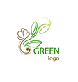 logo with leaf vector image