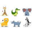 african animals cartoon vector image