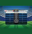 football soccer match statistics vector image