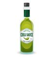 Chili pepper green sauce in bottle vector image