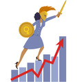 Female leader in business vector image vector image