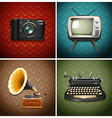 Retro media and audio devices vector image